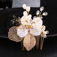 #04418226 The Beautiful Golden Flower Hand Made Comb