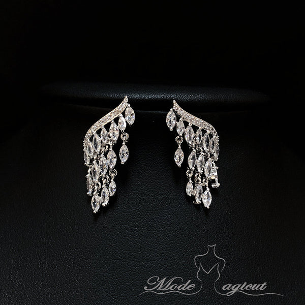 #20960 Gorgeous Fringed Zircon Drop Earrings