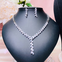 #12529063 Cubic Zirconia / Rhodium-Plated Jewelry Set
