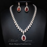 FREE SHIPPING JS29022 2018 Luxurious Cubic Zirconia Jewelry Set, Wedding necklace set