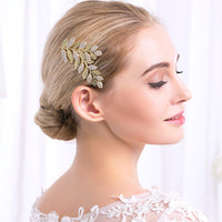 #02418210 Golden Leaves Hair Comb