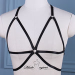 #02089007 Body Harness Lingerie Goth Crop Tops