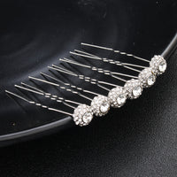 #05448187 Rhinestones Hairpins available color Sliver, Rose gold, Gold (Set for 6)