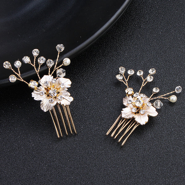 #03418225 Elegant Flower Rhinestone/Alloy Combs & Barrettes ( sale for 1 piece)