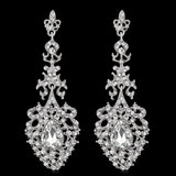 #02538097 Ladies' Alloy/Rhinestone Drop Earrings