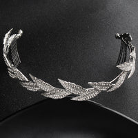 #07418206  Olive leaf shape Rhinestone Headbands