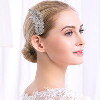 #04448209 Rhinestone, Alloy Leaves Design Comb