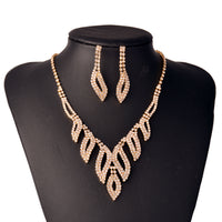 #03518091 Ladies' Alloy/ Rhinestones Golden Jewelry Sets