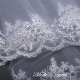 FREE SHIPPING#07308010 One-Tier Lace Trimming Edge Elbow Bridal Veils