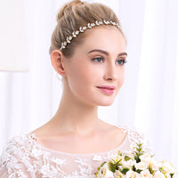 Free Shipping in Canada #04418229 Golden Color Ladies  Rhinestone, Alloy Headband