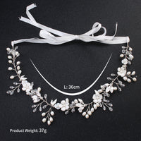 #11418233 Ladies Elegant Alloy Headbands With Imitation Pearls, Crystal