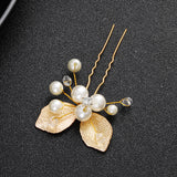 #01448001 Golden Leaves Hairpins (sale for 1)