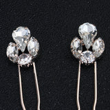 #03448194 Exquisite and Beautiful 4 diamonds Rhinestones Alloy Hairpins (Set for 6)