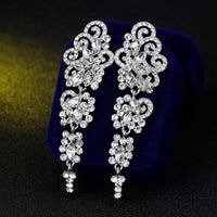 #02538099 Gorgeous Long Alloy/Rhinestone Drop Earrrings