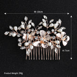 Free Shipping (In Canada) #03448188 Rose Gold Color Butterfly Design Comb