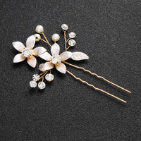 #06448189 Lovely Flowers Hairpins with Imitation Pearls and Rhinestones (Set for 2)