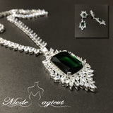 FREE SHIPPING #25519011 Luxurious Zircon Jewelry Sets