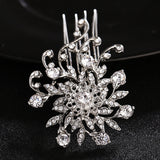 #02428069 Exquisite Vintage Lady's Rhinestone Alloy Combs & Barrettes