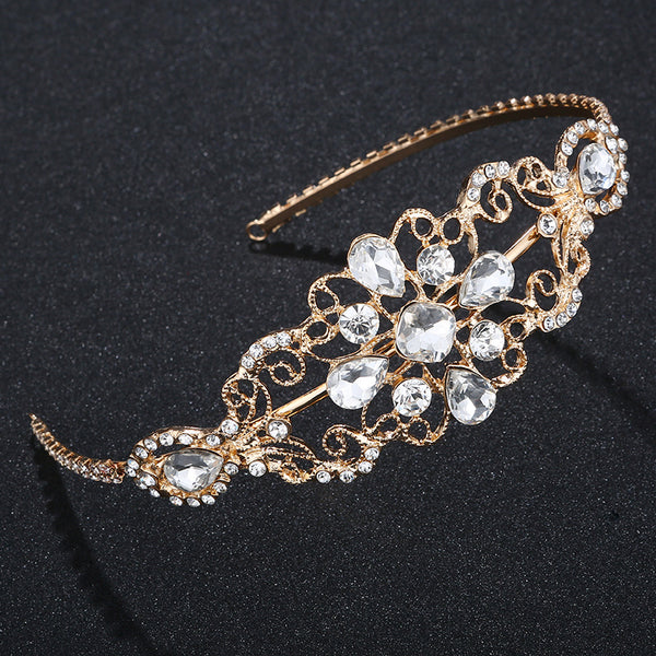 #04418072  Rhinestone Alloy Silver & Golden Tiara (Available Golden Silver Color)