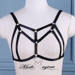 #03089001 Body Harness Lingerie Goth Crop Tops