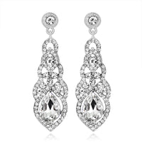 #02538096 Ladies' Classic Alloy/Rhinestone Drop Earring