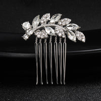 #04448191 Small Cubic Zirconia Hair Comb (Silver, Golden)