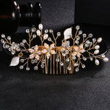 #04428067  Floral handmade by Crystal and Imitation Pearls Combs & Barrettes