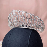 #08439047  Rhinestones and Alloy Tiara with Comb