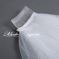 FREE SHIPPING#21308014 3*5 Meters One-tier Sequin Lace Edge Cathedral Bridal Veils with Comb