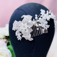 #07419015 Rhinestone with Imitation Pearls Combs