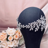 #07419043 Trendy Luxury  Cubic Zirconia with rhinestone, Alloy Headband