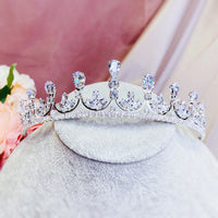 #06432077 H3.7cm Cubic Zirconia Tiara (Availble Golden and Sliver)