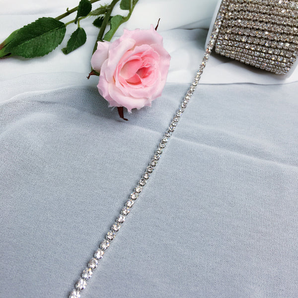 High Quality 10 Meters/Roll Rhinestones Chain For Bridal, Veil, and accessories.  Style#: 02D17090  1meter long/lot