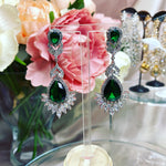 #09532002 Green Cubic Zirconia Luxruy Earrings