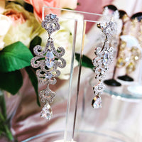 #11532009 Cubic Zirconia Earrings 5.6*1.7cm