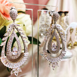 #11532011 Cubic Zirconia Earrings 5.6*2.1cm