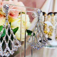 #10532012  Cubic Zirconia  Earrings 5*3cm