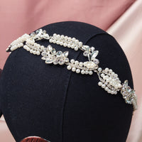 #03419039  Imitation Pearls headband with Crystals