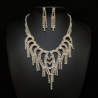 Silver Rhinestones Jewelry Sets Group#2