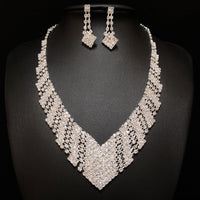 Silver Rhinestones Jewelry Sets Group#1