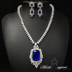 FREE SHIPPING #25519011 Luxurious Cubic Zirconia/Rhodium-Plated Jewelry Sets