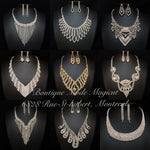 Product Bundling(Buy More Save More Money) Silver Rhinestones Jewelry Sets Group#1