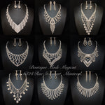 Silver Rhinestones Jewelry Sets Group#3