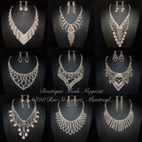Product Bundling(Buy More Save More Money) Silver Rhinestones Jewelry Sets Group#3