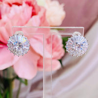 #06538102 Cubic Zirconia Earrings 14mm*14mm