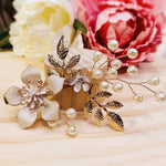 #02419034 Follower Rhinestone Hair Comb with Clip