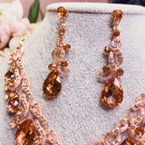 #05510119-1 Rhinestone Jewelry Sets Rose-Gold