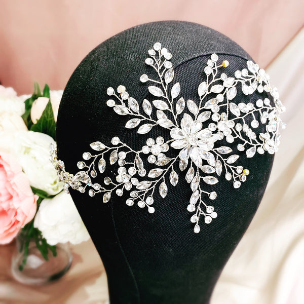 #07419050 Rhinestone Long headband