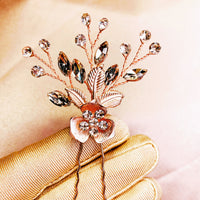 #02442040 Rhinestone Hairpin Available in Color Silver & Rose Gold