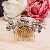 #04449021 Cubic Zirconia Hair Comb (Golden, Silver)